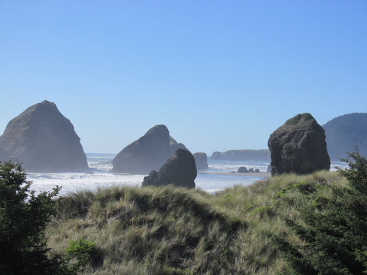 Famous rocks of Gold beach,Oregon
