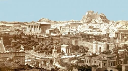 Recreation of Ancient Athens.