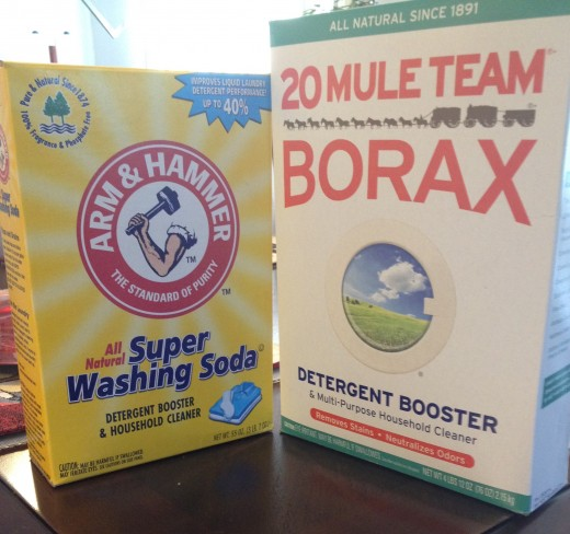Washing Soda & Borax that I use in my homemade laundry detergent
