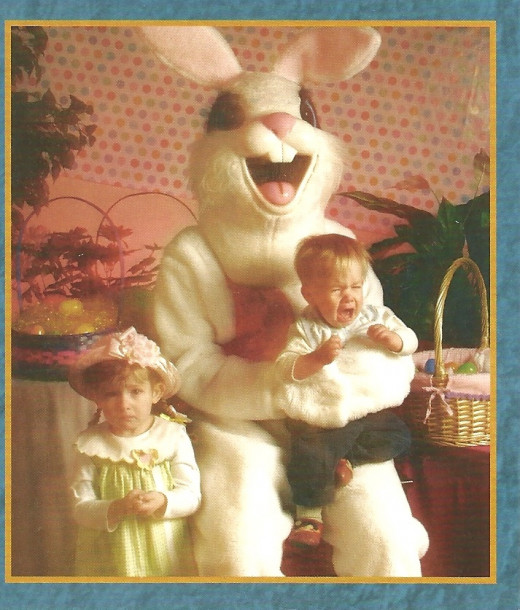 Easter Bunny terrorizing children.