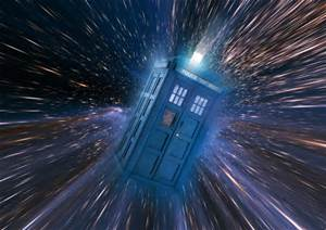 TARDIS time machine of Dr. Who BBC television series