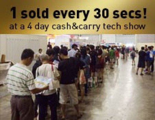 One unit of the Sound Blaster Roar was sold every second in a four days cash and carry tech show.