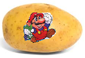 Let's Face It, They Could Have Stamped Mario on This Potato and We Would Have Begged Our Parents to Have It. We Would Have Dreamed of Having It. Mario 2 - the Game That Battles Hunger.