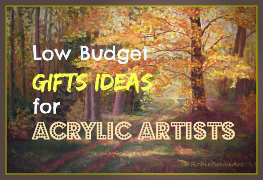 Low budget gift ideas for acrylic artists