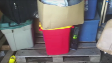 To protect vulnerable items from rodents storage of items in plastic totes is necessary.