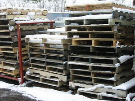 Many businesses give pallets away FREE!