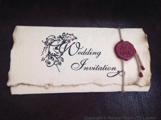 Old English invitation