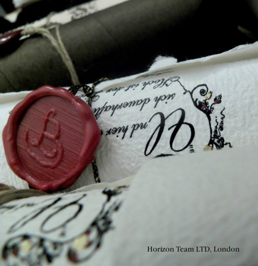 Burgundy Wax Seal with Initials