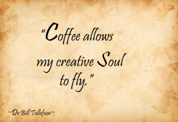 Coffee recharges my Soul.