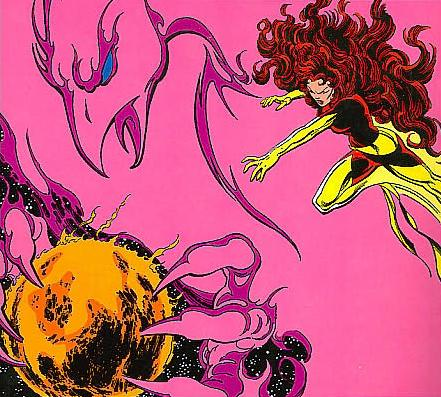 Jean Grey, consumes a star!