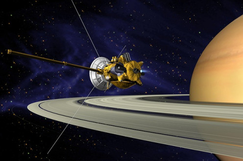 Cassini Saturn Orbit.