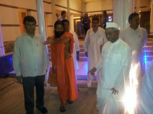 Ramdeo and Anna Hazare