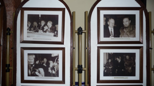 Photos from Fidel Castro's many visits to the hotel.