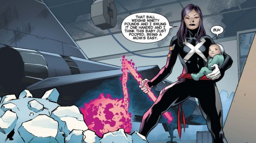 I think Psylocke could in fact make guns and chainsaws like Hal but she has a personal taste for medieval weapons.