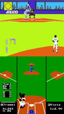 Bases Loaded (Top) Made It Look like the Game Was Being Watched on a Television - Which Was Cool Because You Were Playing on Your Television! RBI Baseball (Bottom) Used the Normal Perspective Used In Most Games. Notice RBI's Hideous Sprites.