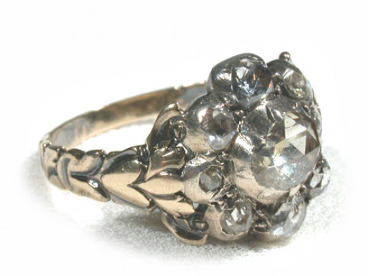 Classic worn heirloom diamon ring