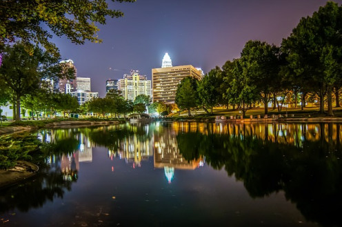 Charlotte at night.