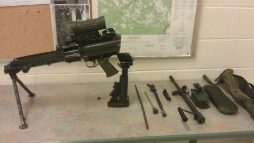 Mostly disassembled C9 5.56 mm light machine gun