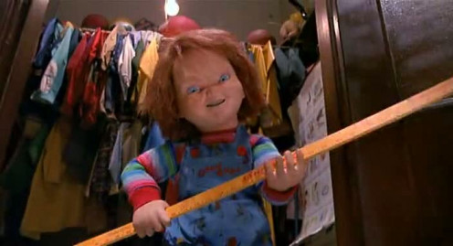 Chucky is still in pursuit of Anthony Barkley in Child's Play 2.