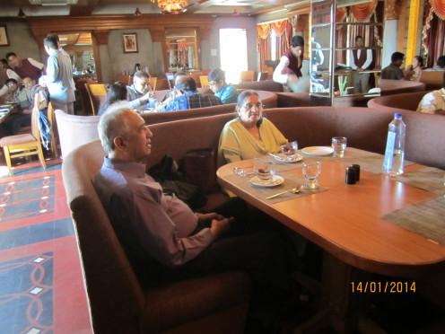 Dine at a pleasing place, not a cafe. મનને આનંદ આપે એવા વાતાવરણમાં જમવું.