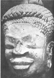 A Naga Buddha statue with undeniable Negroid features.