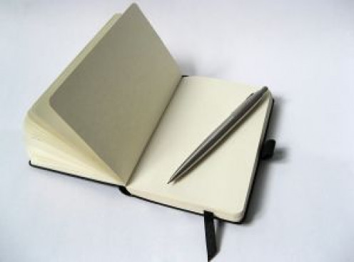 A notebook and pencil that every writer needs