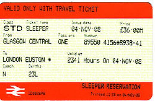 Train ticket example