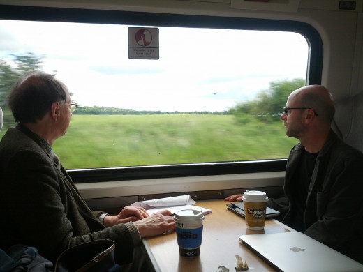 A train ride from London to York
