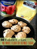 Low Calorie Chocolate Chip Cookies: No Refined Sugar Added