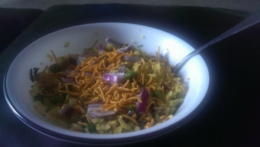 Poha With Sev