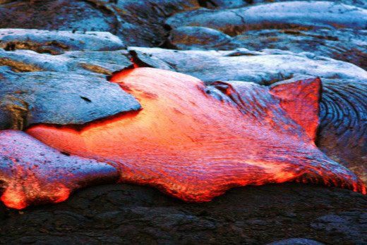 Molten salt... wait no, that's just lava.