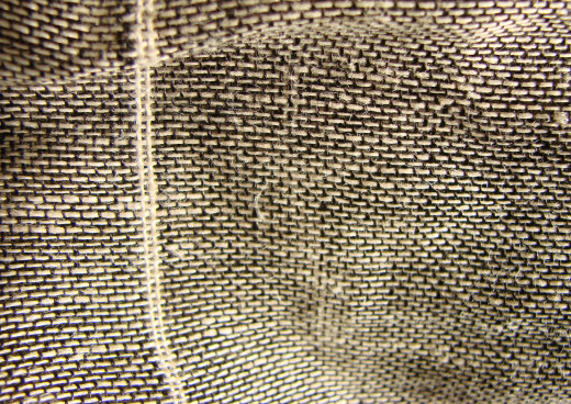 A closeup of linen