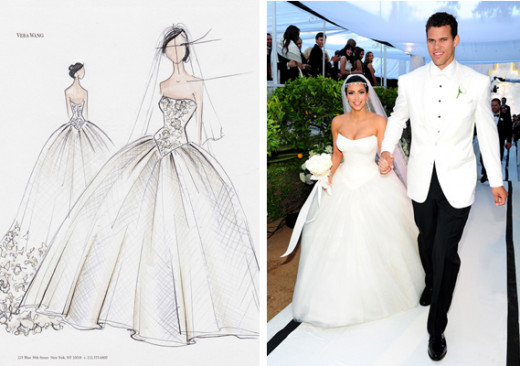 Kim Kardashian in Vera Wang wedding dress