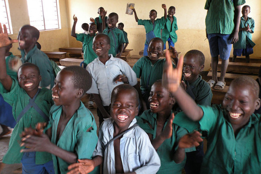 Students of a USAID-funded education program in Uganda