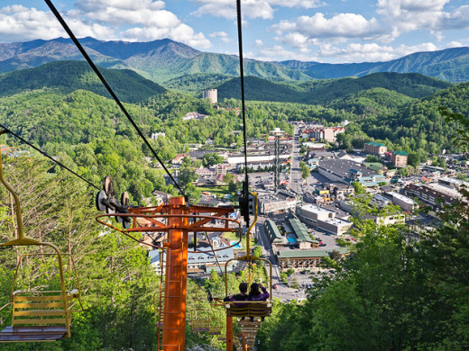 The sky-lift in Gatlinburg lets you rise above the city to see how beautiful nature can really be.
