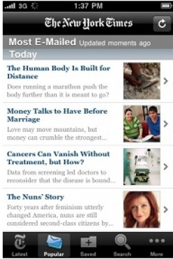 One of the most downloaded news apps for iPhone 3g