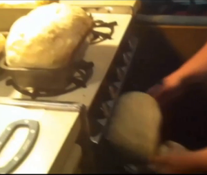 Preheat the oven to 400 degrees fahrenheit and bake the bread for twenty minutes.