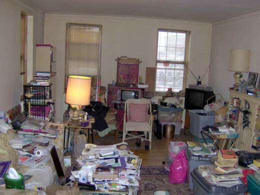 Cluttered Studio Apartment