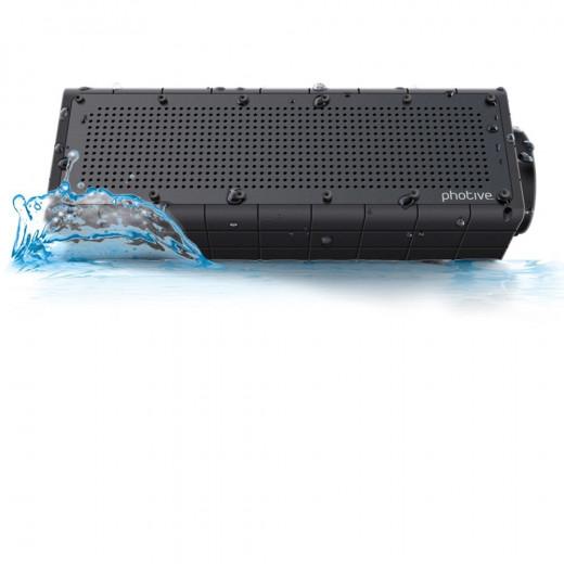 Photive HYDRA Rugged, Portable, Water Resistant, Shockproof & Waterproof Wireless Bluetooth Shower Speaker