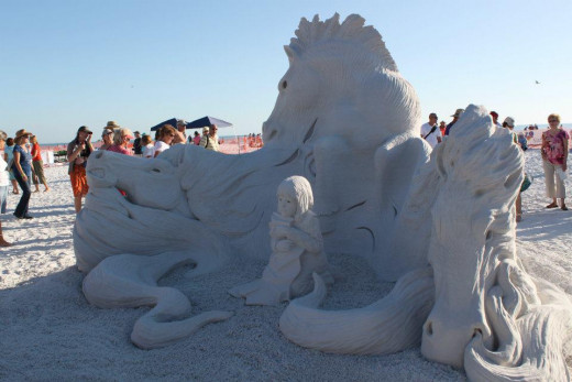 First Place World Doubles Sand Sculpting Competition