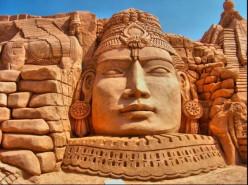 Sand Sculptures on the Beach - Beach Sand Art - Sand Castles