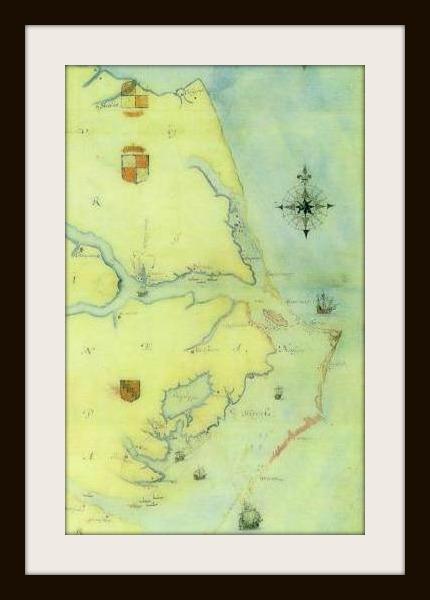 Map by John White- 1585