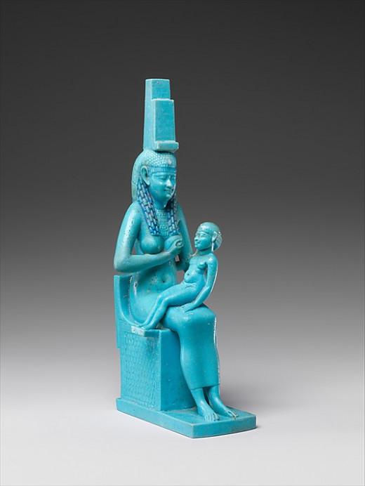 Isis and Horus  -  Met Museum