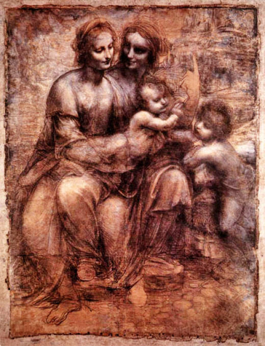 The Burlington House Cartoon  - Leonardo Da Vinci