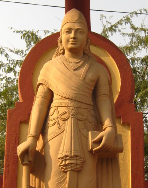 Chandragupta Maurya statue in Birla Mandir, Delhi