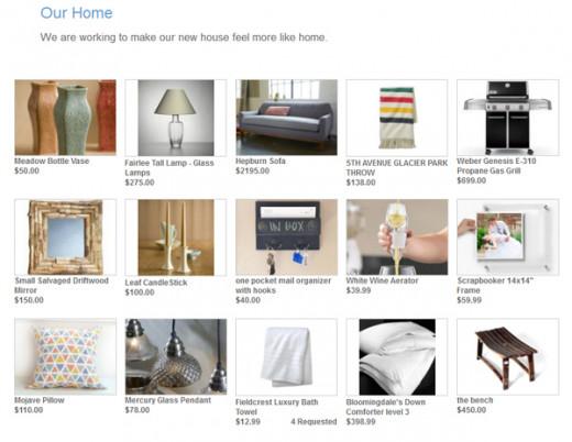 Online Housewarming Registry