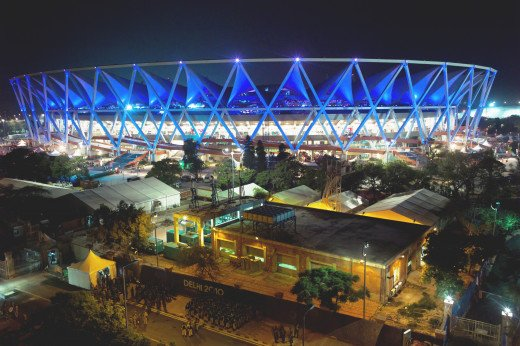 The Jawaharlal Nehru Stadium, the main stadium for the Delhi Commonwealth Games 2010.