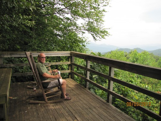 Enjoy a picnic lunch at one of the pull-off vistas.  Rocking chairs are provided!