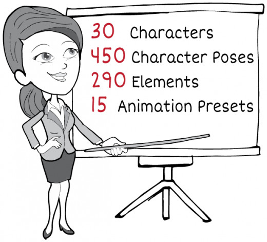 Whiteboard Animation Pack Content