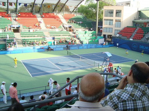Centre Court of R.K. Khanna Tennis Complex, New Delhi, India. On the occasion of Commonwealth Games 2010